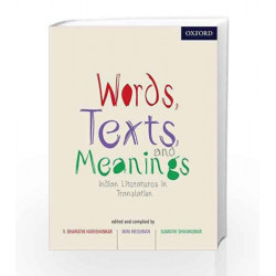 Words, Texts and Meanings: Indian Literatures in Translation by Harishankar Book-9780198096283