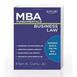 MBA Fundamentals Business Law (Kaplan MBA Fundamentals) by - Book-9781427796585