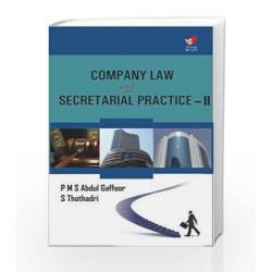 Company Law & Secretarial Practice II by Gaffoor Book-9788182093683