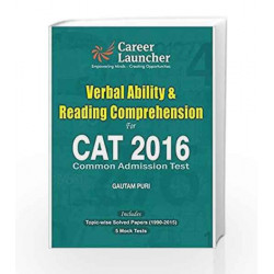 CAT Verbal Ability & Reading Comprehension 2016 by Gautam Puri Book-9789351449218
