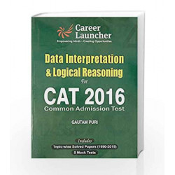 CAT Data Interpretation & Logical Reasoning 2016 by Gautam Puri Book-9789351449225