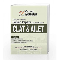 CLAt & AILET Chapter-Wise (Solved Papers 2008-2015) by GKP Book-9789351450245