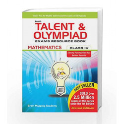 BMA\'s Talent & Olympiad Exams Resource Book for Class - 4 (Maths) by Brain Mapping Academy Book-9789382058489