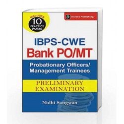 IBPS - CWE Bank Probationary Officers/Management Trainees (PO/MT) Preliminary Examination by Nidhi Sangwan Book-9789383454877