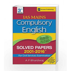 Compulsory English - Solved Papers 2001-2016 for Civil Services Examination by A.P. Bhardwaj Book-9789383454976