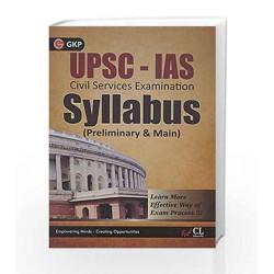 UPSC- IAS Syllabus(Preliminary and Main) by GKP Book-9789351440727