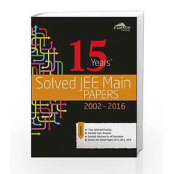 Wiley's 15 Years' Solved JEE Main Papers, 2002-2016 (WIND) by Wiley Editorial Book-9788126558704