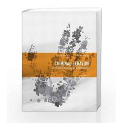 Criminal Behavior: A Psychological Approach by  Book-9780132973199
