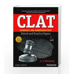 CLAT Solved & Previous Year Paper 2e by Bhardwaj Book-9789332560147