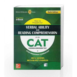 How to Prepare for Verbal Ability and Reading Comprehension for the CAT by Sharma Book-9789339222697