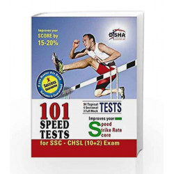 SSC 10+2 Combined Higher Secondary Level (CHSL) 101 Speed Tests with Success Guarantee by Disha Experts Book-9789384583385